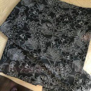 J Jill Wearever Collection Black Print Maxi Skirt